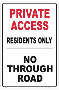 Private Access sign
