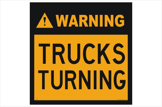 Trucks Turning sign