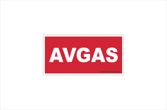 Avgas sticker