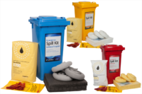 120 Litre Wheeled bin Spill Kit. 120 litre spill kit wheelie bin.. Buy from National Safety Signs, Australia