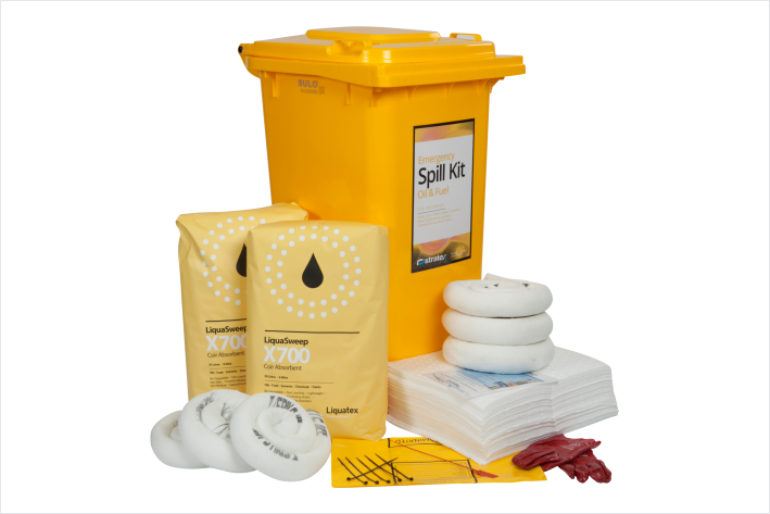 240 Litre Spill KitS. Spill Kits and spill Products South East QLD. Spill response Gold coast, Spill absorbents