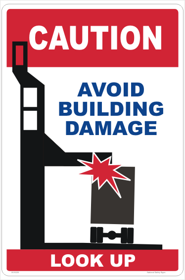 Truck Height Damage sign