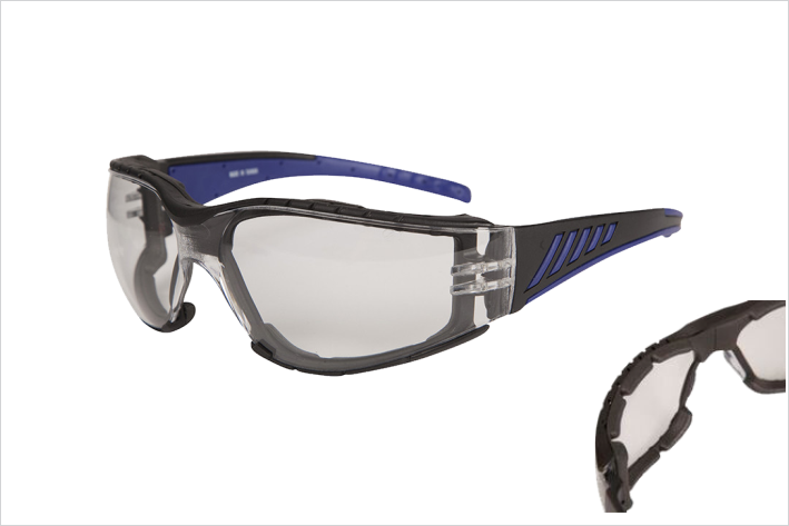 Bastille Foam Seal Safety Glasses