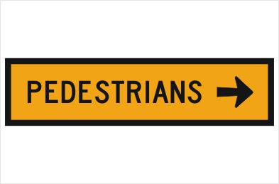 Pedestrian Right Arrow