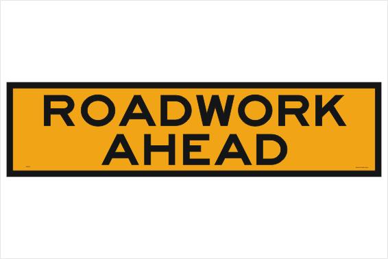 Roadwork Ahead 1200x300 sign