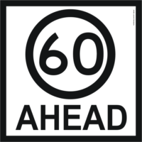 60 ahead sign
