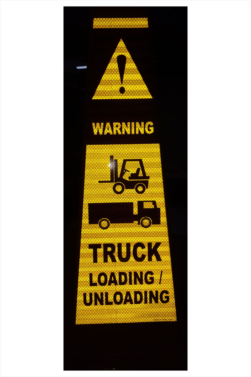 4 Sided Safety Cone Trucks Loading
