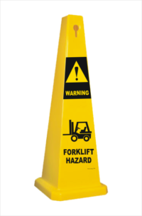 Forklift Hazard Warning Cone
