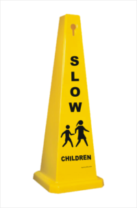 4 Sided Safety Cone Slow Children