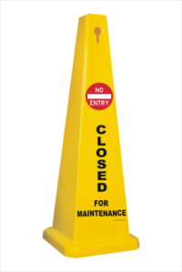 Closed for Maintenance Floor Stand cone