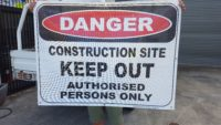 Construction Site Danger Banner