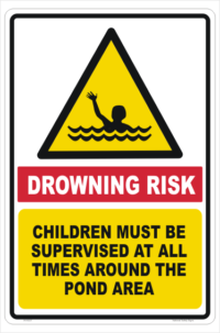 Drowning Risk sign