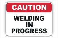 Welding Caution sign