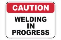 Welding Caution sign
