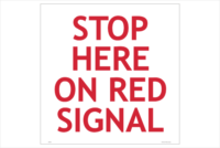 Roadworks Stop Here on Red Signal sign