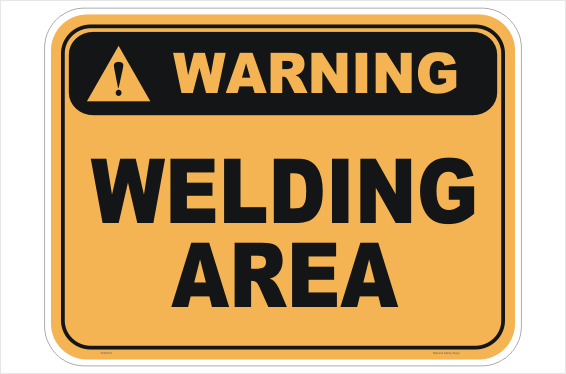 Welding Area sign