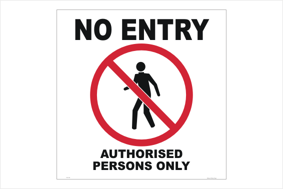 No Entry 600x600 sign