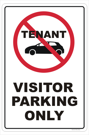 No Tenant Visitor Parking Sign