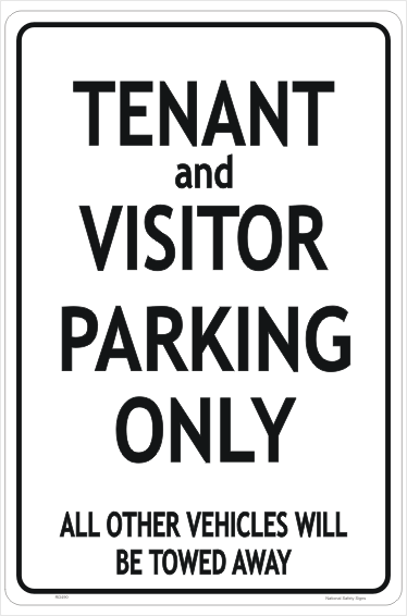 Tenant Visitor Parking sign