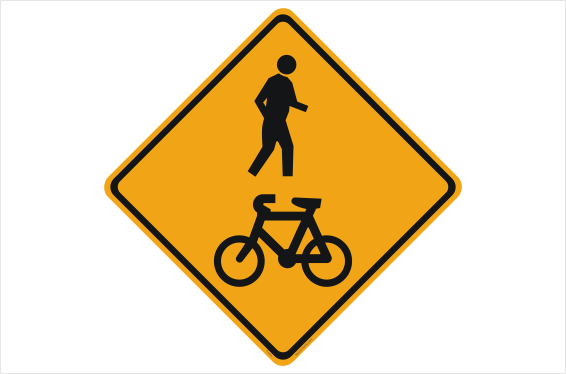 Shared Path Bicycle and Pedestrian sign