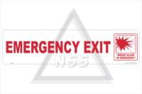 Bus Emergency Exit sign