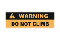 Do Not Climb label