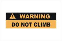 Do Not Climb label