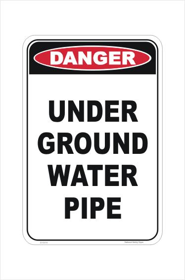 Underground water pipe sign