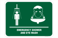 Emergency Shower & Eyewash sign E12130