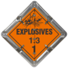 Explosives 1.3 Placard