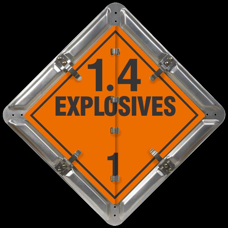 Explosives 1.4 Placard