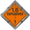 Explosives 1.6 Placard