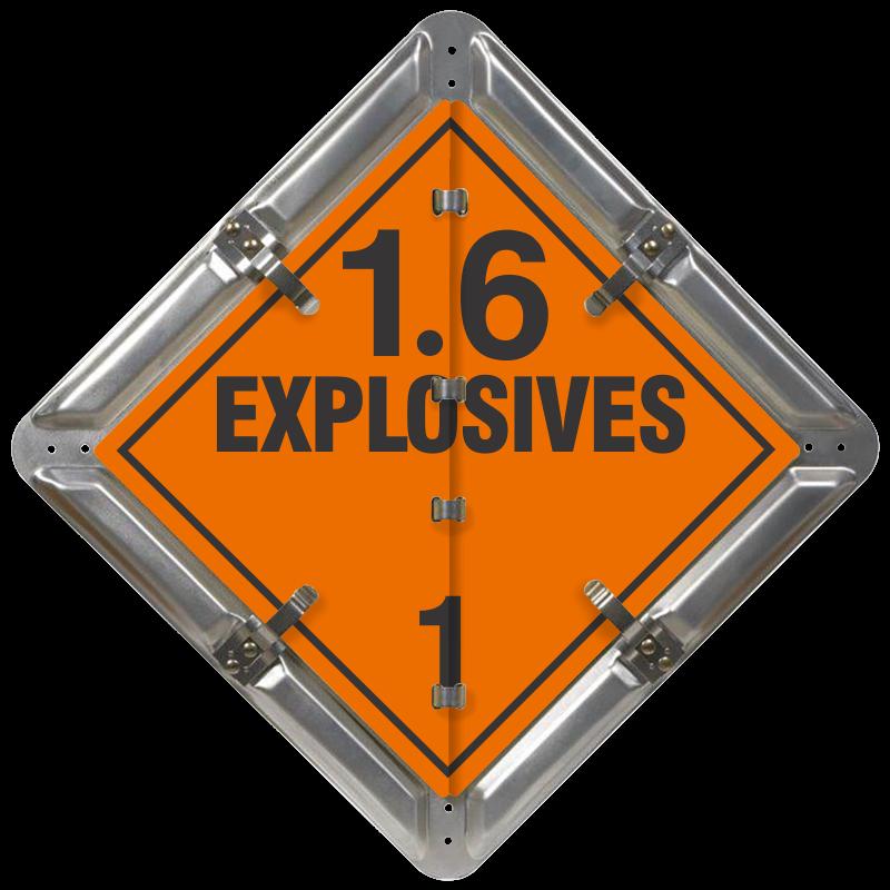 Explosives 1.6 Placard