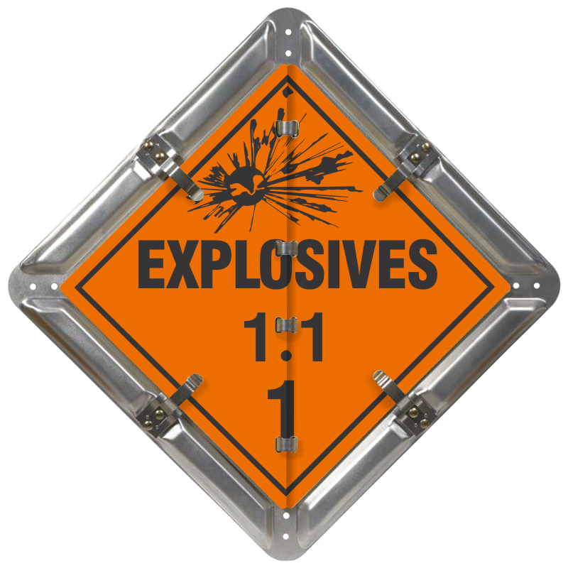 Class 1 Explosives Signs - Explosives Flip File Placard Kit