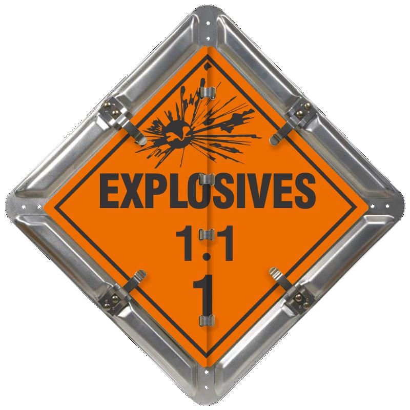 Class 1 Explosives Signs - Explosives Flip File Placard Kit