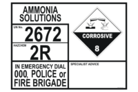 Ammonia Solutions Transport Panel