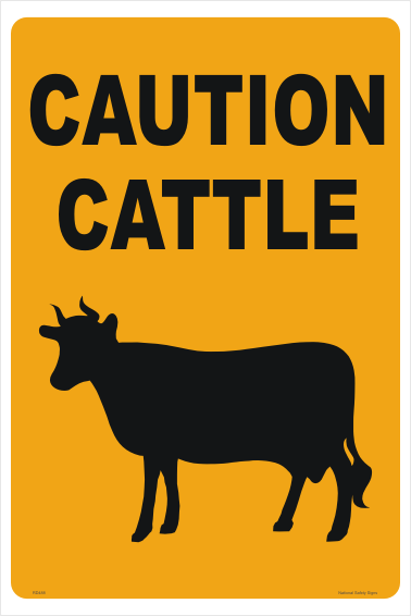 Caution Cattle sign