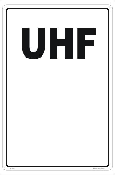 UHF Number sign