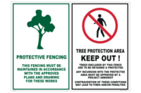 Tree Protection Zone Sign (TPZ) AS 4970-2009