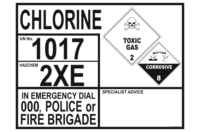 Chlorine Transport Placard