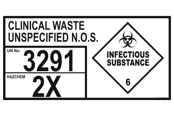 Clinical Waste Storage Placard