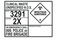 Clinical Waste Transport Placard