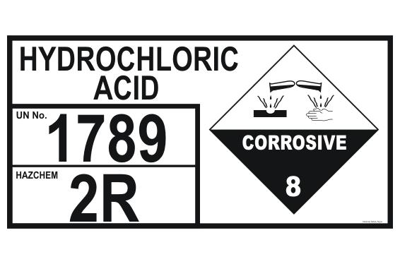 Hydrochloric Acid Storage Panel