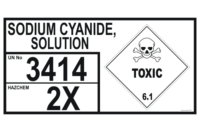 Sodium Cyanide Solution Storage Panel
