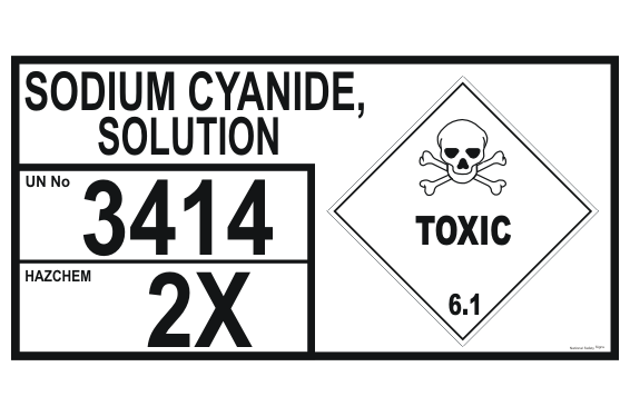 Sodium Cyanide Solution Storage Panel
