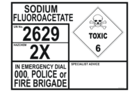 Sodium Fluoroacetate Emergency Information Panel