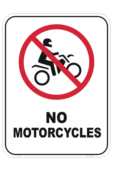 No Motorcycles sign