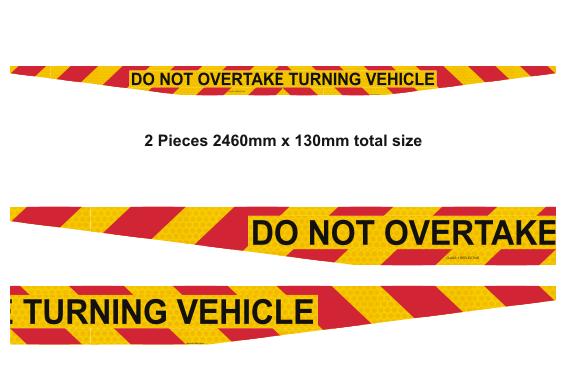 Do Not Overtake Turning Vehicle sign