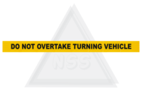 Do Not Overtake Turning Vehicle 1200x100mm rear marker