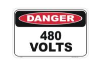 480 Volts sign